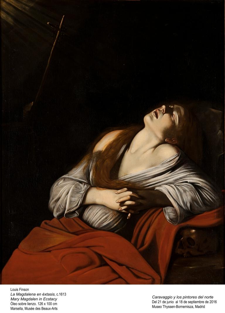 Sainte Madeleine, école italienne XVIIe siècle, huile sur toile